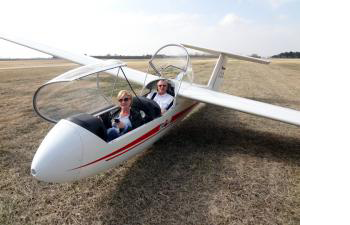 Jim C. Flies the L-23, last day of summer, 2012