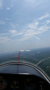 View from the L-23 on tow
